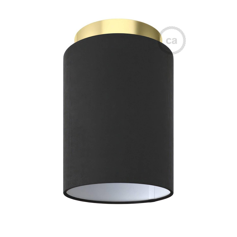 Fermaluce Metal con paralume Cilindro, lampada filomuro