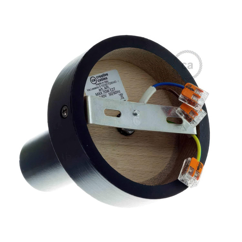 Fermaluce Wood M, il punto luce in legno a parete o soffitto