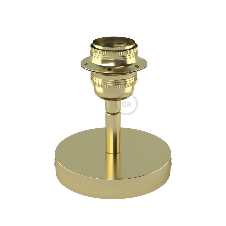 Fermaluce Metallo 90° con portalampada filettato E27, punto luce in metallo orientabile
