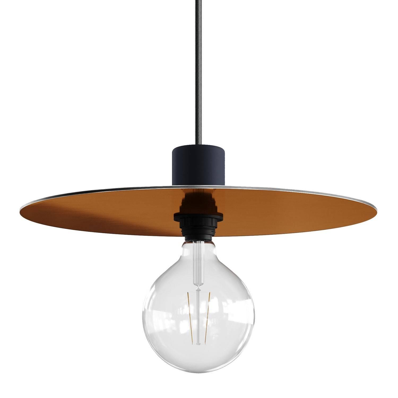 Piatto Ellepì oversize in Dibond per lampade a sospensione da esterni, diametro 40 cm - Made in Italy