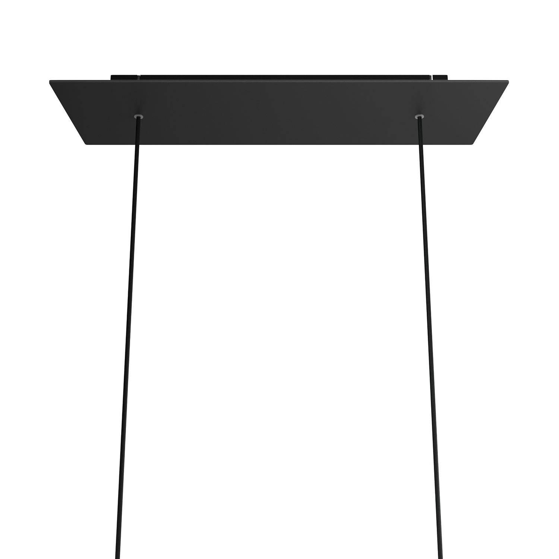 Kit rosone XXL Rose-One rettangolare a 2 fori, dimensioni 675 x 225 mm