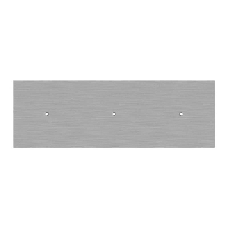Kit rosone XXL Rose-One rettangolare a 3 fori in linea, dimensioni 675 x 225 mm