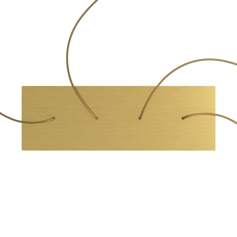 Kit rosone XXL Rose-One rettangolare a 4 fori in linea, dimensioni 675 x 225 mm