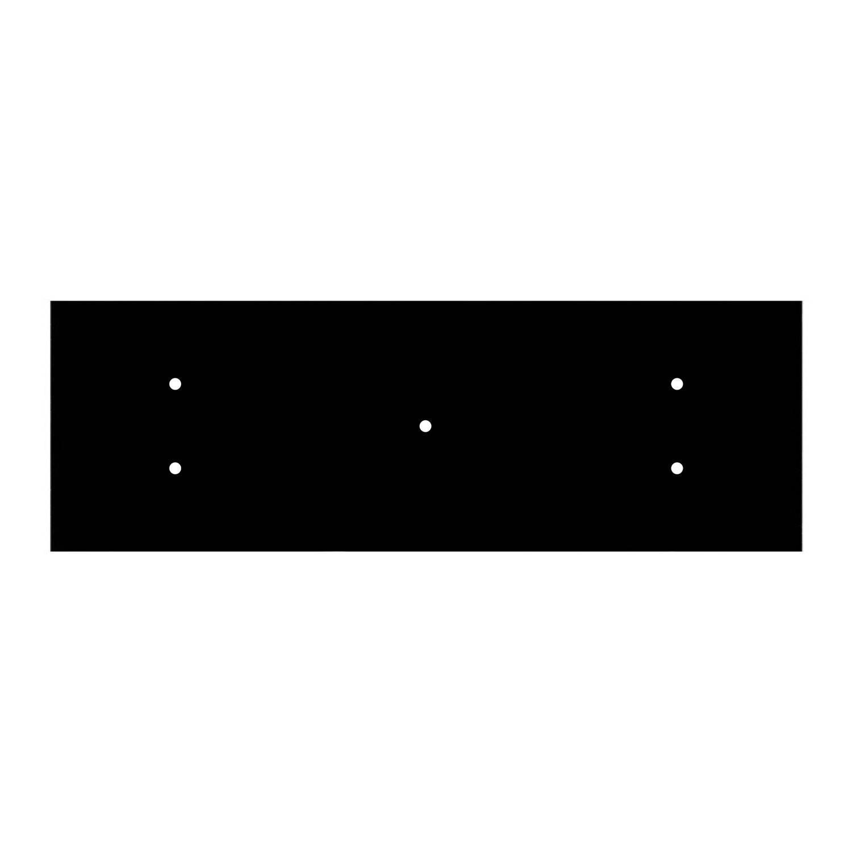 Kit rosone XXL Rose-One rettangolare a 5 fori, dimensioni 675 x 225 mm