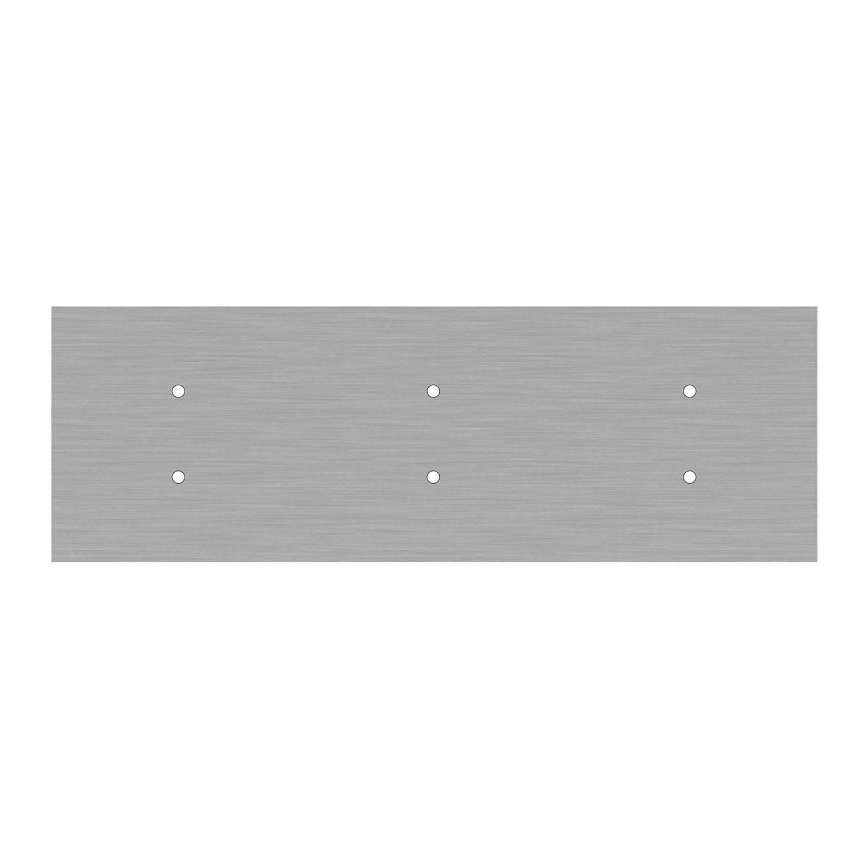 Kit rosone XXL Rose-One rettangolare a 6 fori, dimensioni 675 x 225 mm