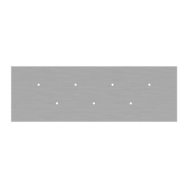 Kit rosone XXL Rose-One rettangolare a 7 fori, dimensioni 675 x 225 mm
