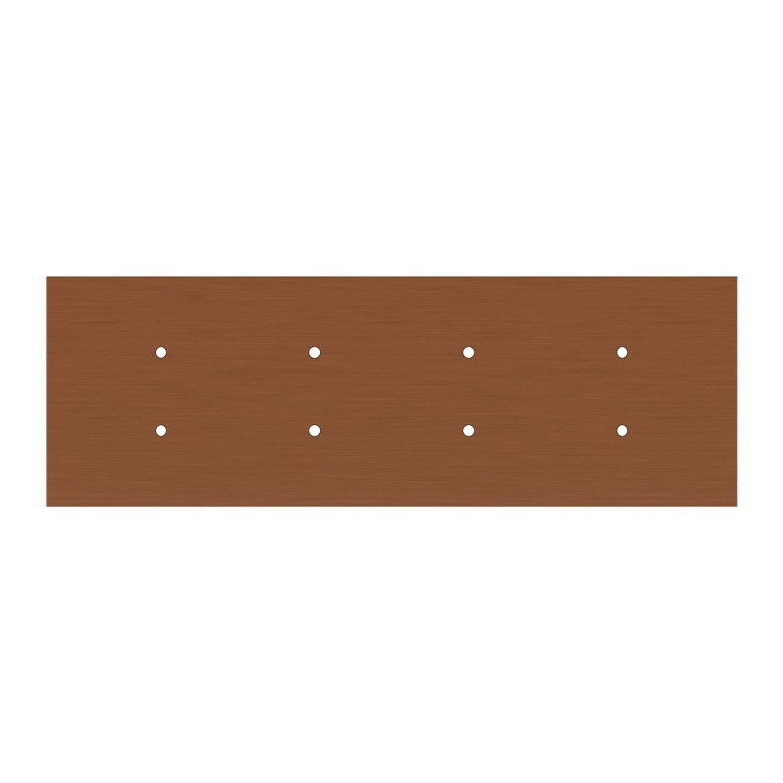 Kit rosone XXL Rose-One rettangolare a 8 fori, dimensioni 675 x 225 mm
