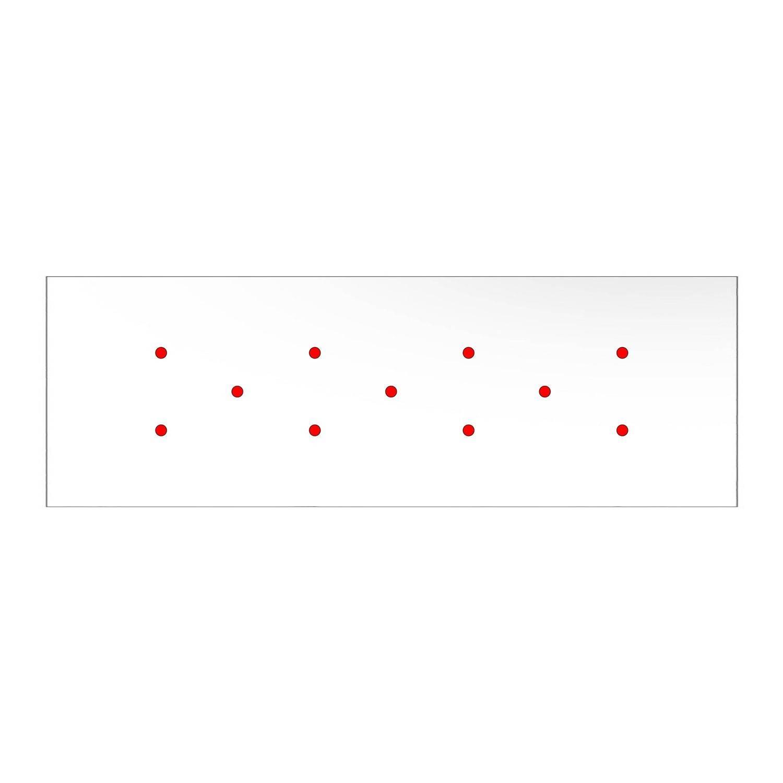 Kit rosone XXL Rose-One rettangolare a 11 fori, dimensioni 675 x 225 mm
