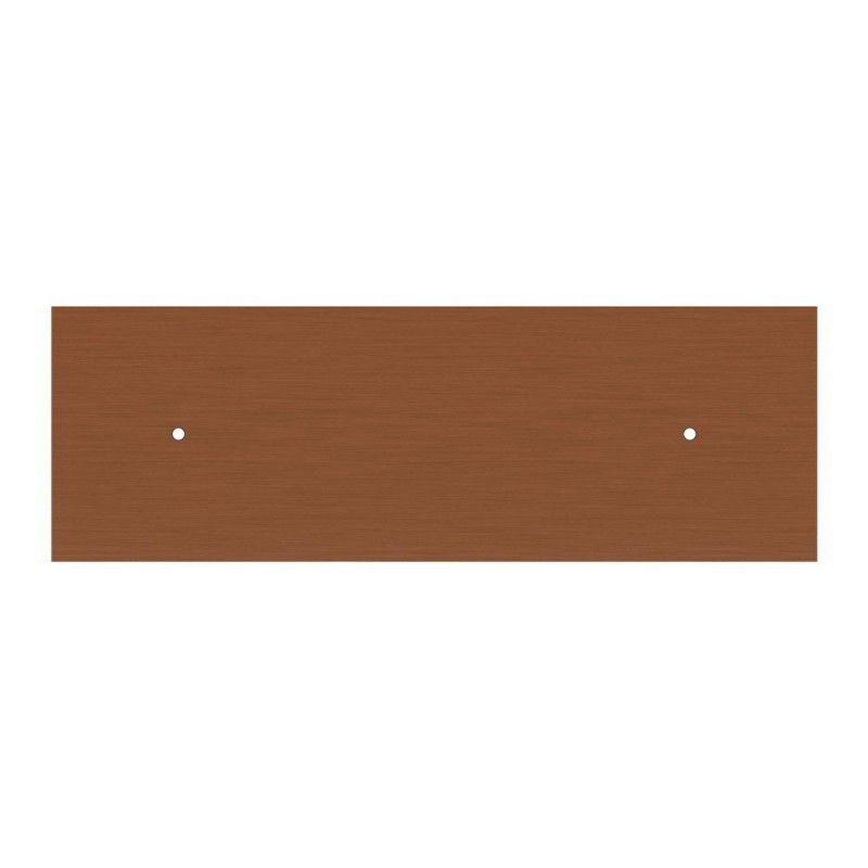 Lampada a sospensione a 2 cadute con XXL Rose-One rettangolare 675 mm completa di cavo tessile e finiture in metallo