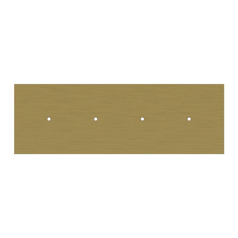 Lampada a sospensione a 4 cadute con XXL Rose-One rettangolare 675 mm completa di cavo tessile e finiture in metallo
