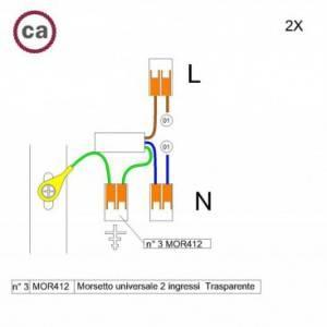 Kit di collegamento WAGO compatibile con cavo 2x per Rosone ad 1 foro