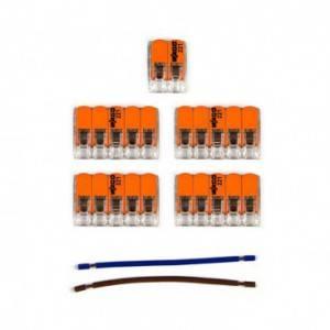 Kit di collegamento WAGO compatibile con cavo 2x per Rosone a 6 fori