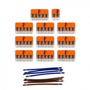 Kit di collegamento WAGO compatibile con cavo 2x per Rosone a 15 fori