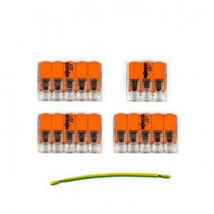 Kit di collegamento WAGO compatibile con cavo 3x per Rosone a 4 fori
