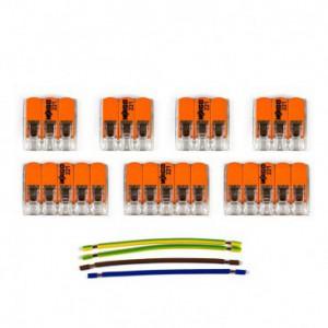 Kit di collegamento WAGO compatibile con cavo 3x per Rosone a 5 fori