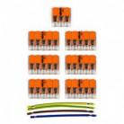 Kit di collegamento WAGO compatibile con cavo 3x per Rosone a 6 fori
