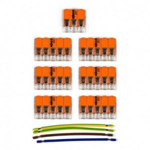 Kit di collegamento WAGO compatibile con cavo 3x per Rosone a 7 fori