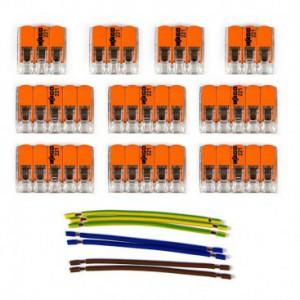 Kit di collegamento WAGO compatibile con cavo 3x per Rosone a 8 fori