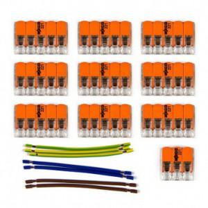Kit di collegamento WAGO compatibile con cavo 3x per Rosone a 10 fori