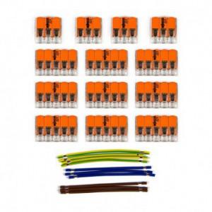 Kit di collegamento WAGO compatibile con cavo 3x per Rosone a 11 fori