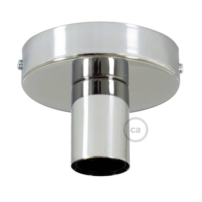 Fermaluce Metal, il punto luce in metallo a parete o soffitto