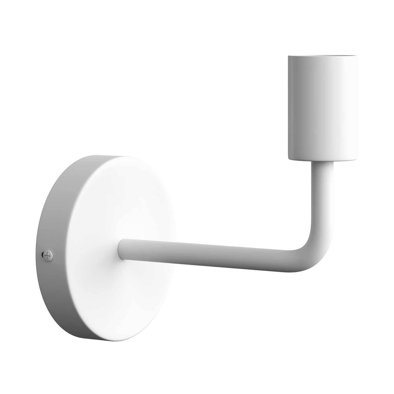 Fermaluce Metal, lampada a muro in metallo con estensione curva