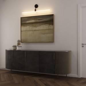 Lampada a muro minimal con portalampada Syntax S14d e estensione a L in metallo