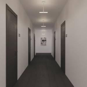 Lampada da soffitto minimal con portalampada Syntax S14d e estensione in metallo da 30 cm