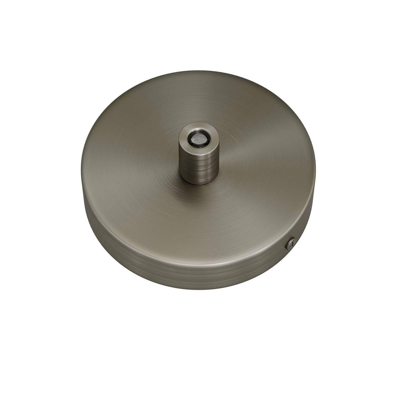 Kit Mini Rosone cilindrico in metallo a 1 foro centrale