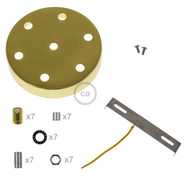 Kit rosone cilindrico in metallo a 7 fori