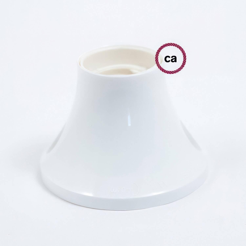 Portalampada 90° E27 a parete o soffitto in termoplastica