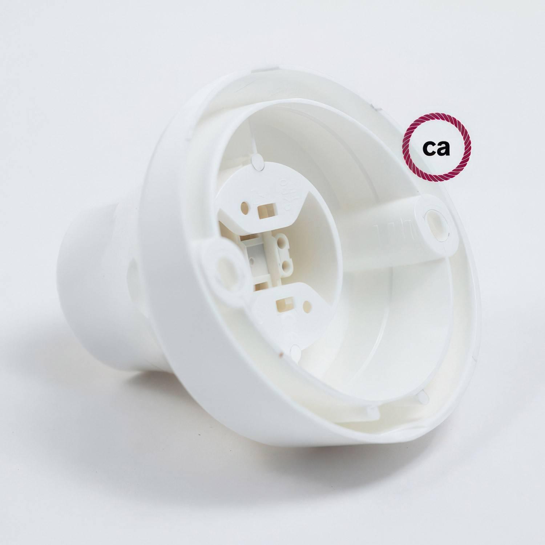 Portalampada 45° E27 a parete o soffitto in termoplastica