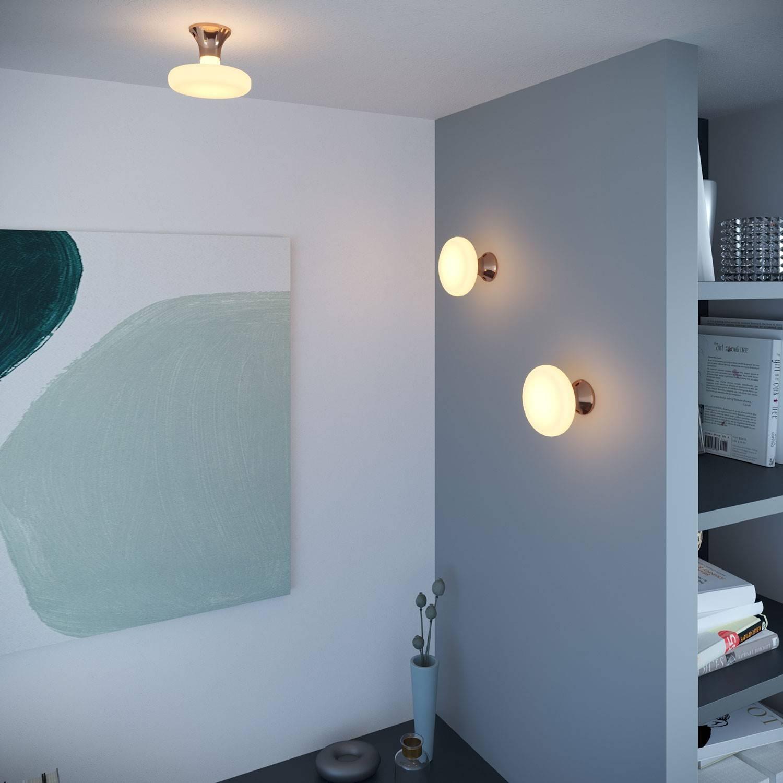 Portalampada metallizzato E27 a parete o soffitto