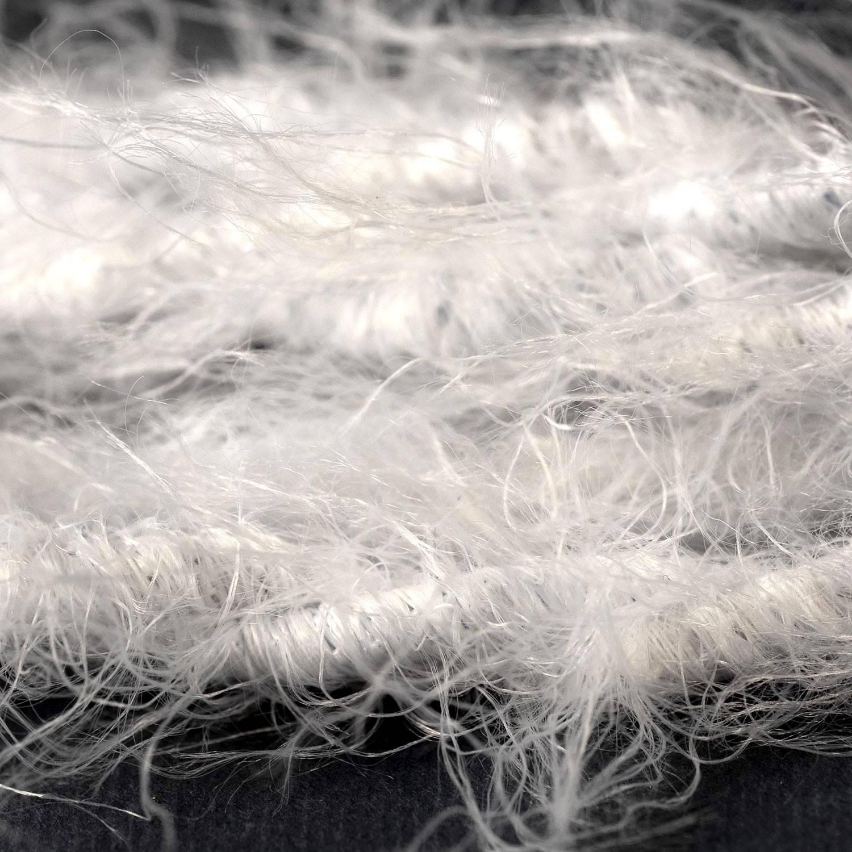 Cavo elettrico trecciato Marlene rivestito in tessuto effetto Peloso Tinta Unita Bianco TP01