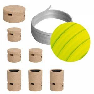 Sistema Filé Linear Kit - con cavo di 5 m per catenaria e 7 componenti in legno per interni