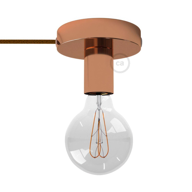 Spostaluce, il punto luce in metallo completo di cavo tessile e fori laterali