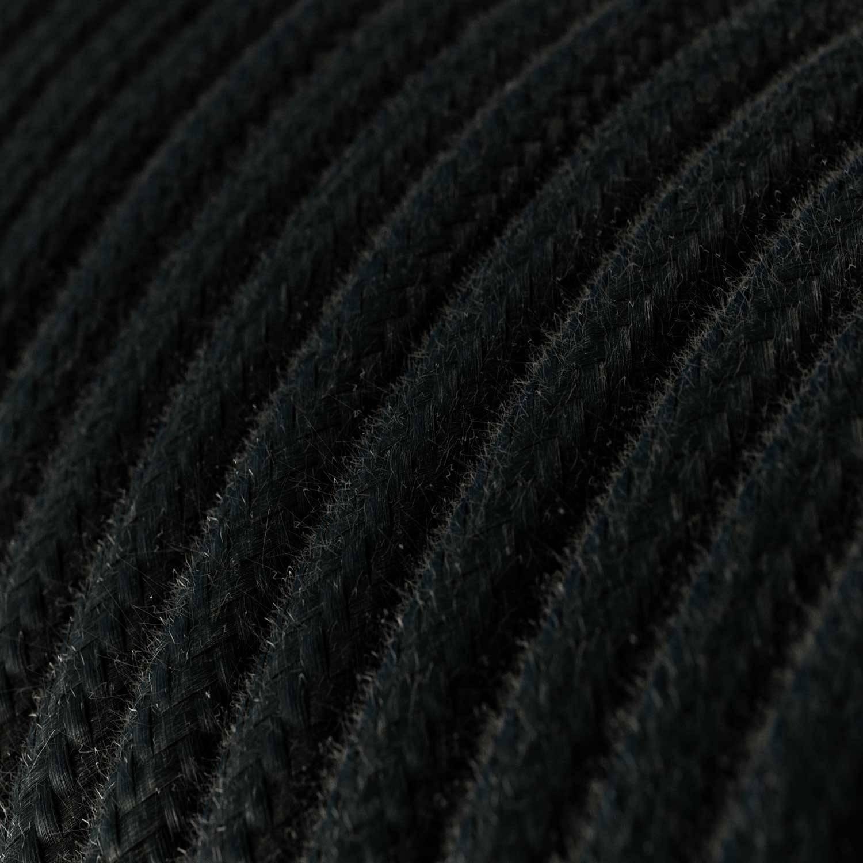 Spostaluce Metallo 90° orientabile, completo di cavo tessile e fori laterali