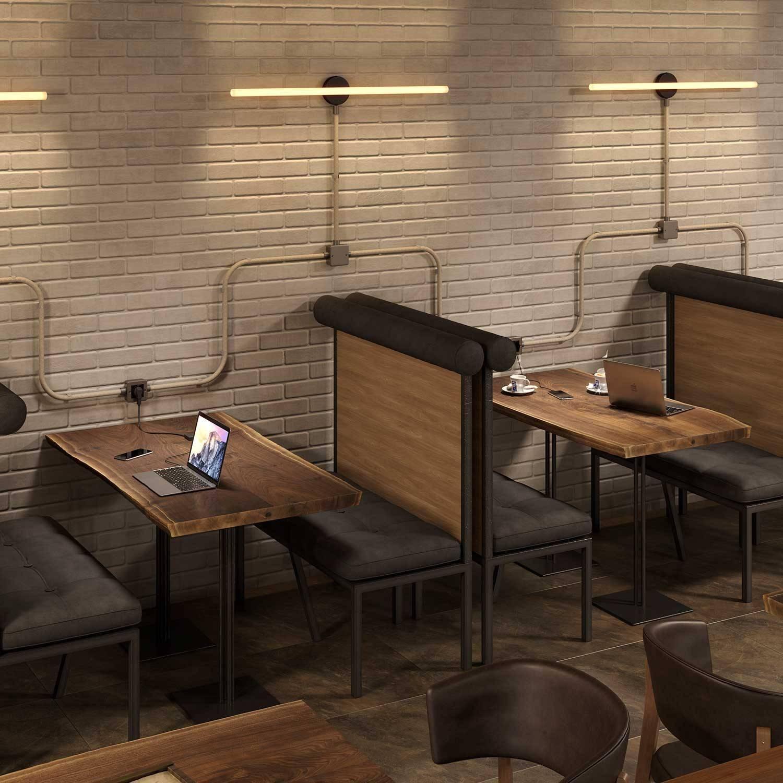 Terminale in metallo con filetto M20 per Creative-Tube, con viti stringitubo