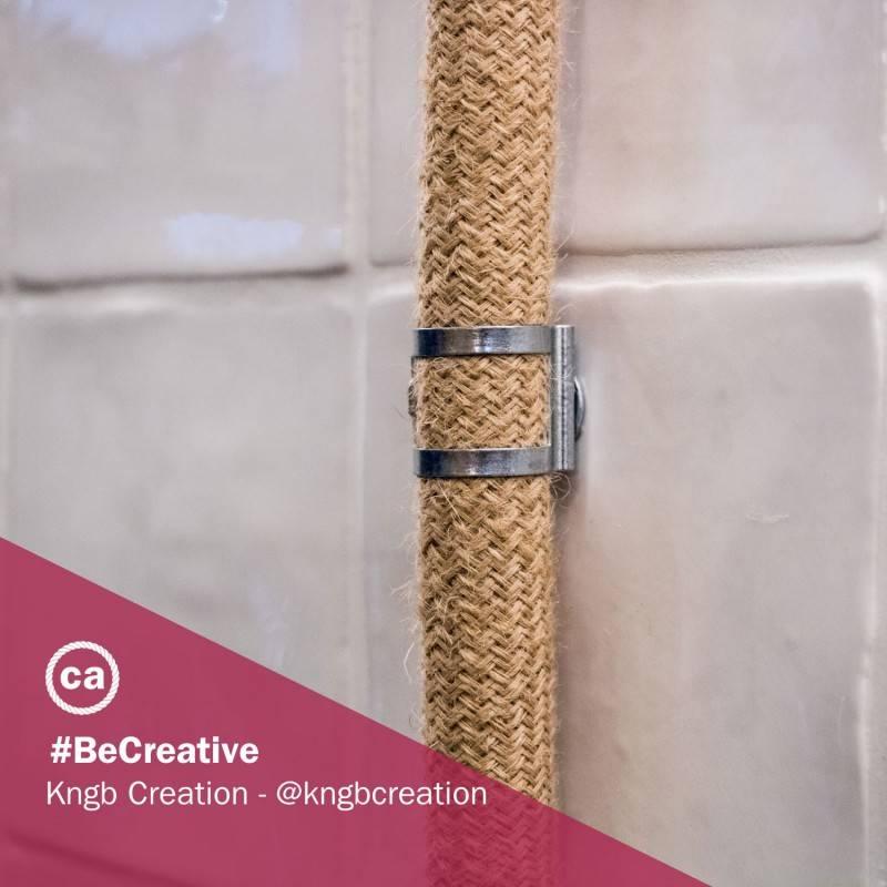 Clip fascetta fissatubo in metallo zincato per Creative-Tube