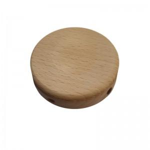 Kit Mini rosone cilindrico in legno a 4 fori laterali (scatola di derivazione)