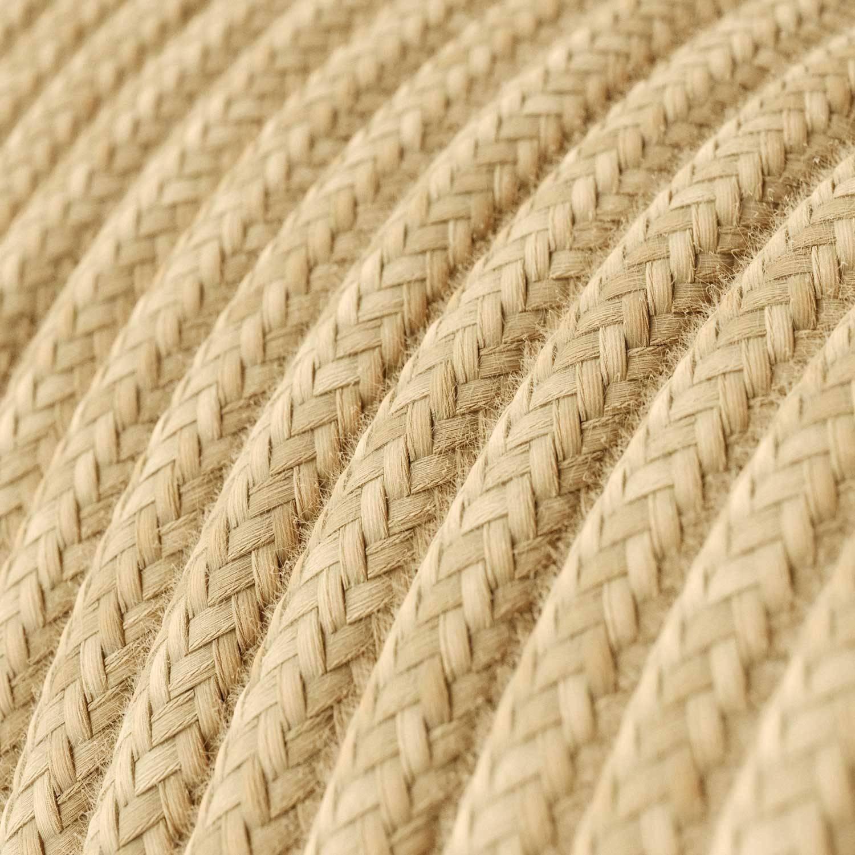 Spider - Lampada a sospensione multipla a 4 cadute Made in Italy completa di cavo tessile e finiture in legno