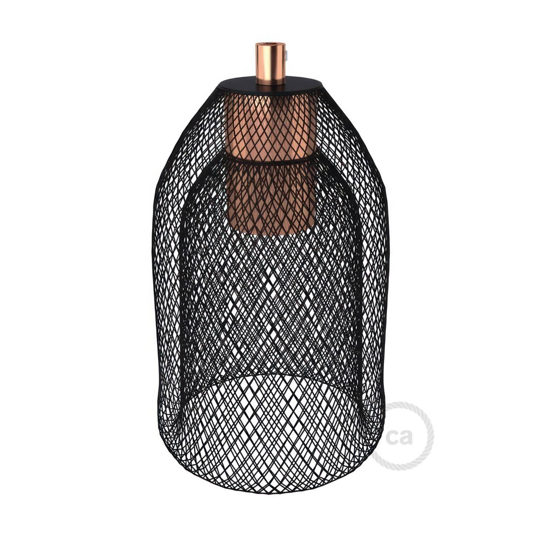 Gabbia paralume GhostBell in metallo con kit portalampada E27