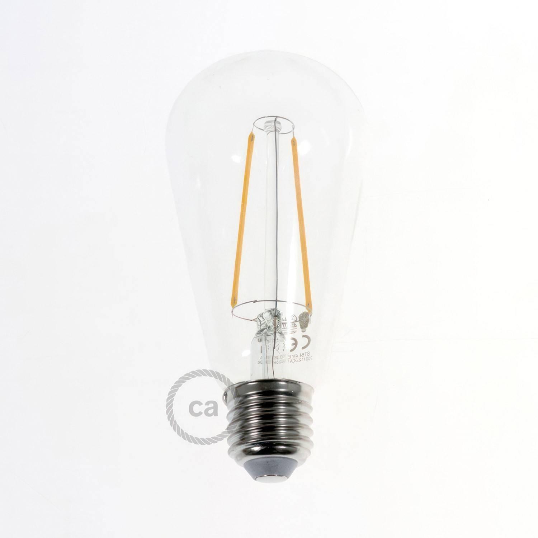 Lampada a sospensione a 11 cadute con XXL Rose-One rettangolare 675 mm completa di cavo tessile e paralume in metallo Ghostbell