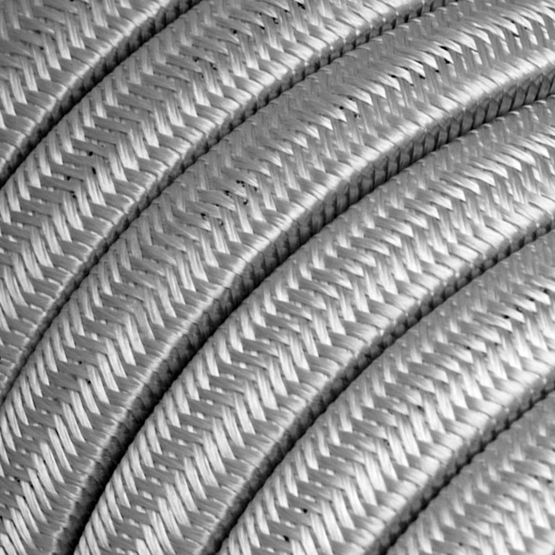 Catenaria Sistema Lumet pronta all'uso da 7,5 m con cavo tessile, 5 portalampada, gancio e spina neri