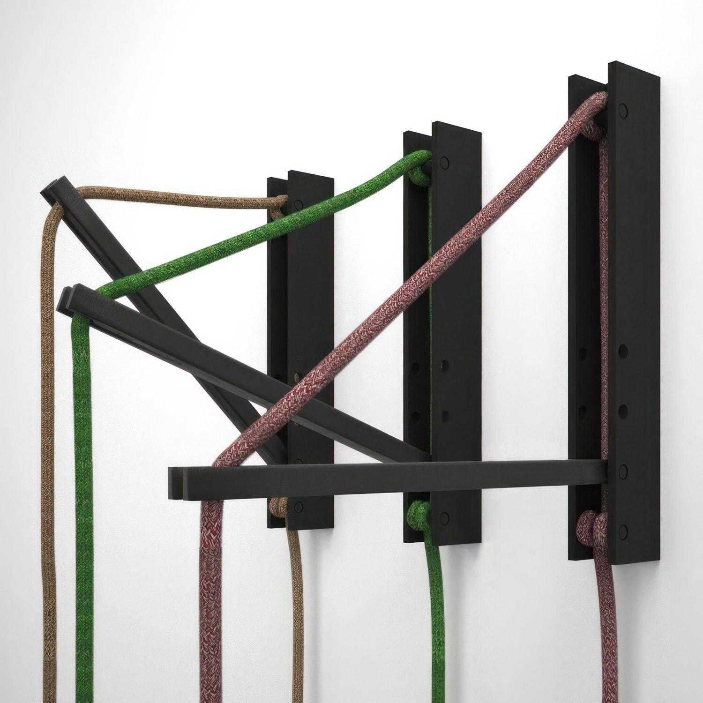 Pinocchio, supporto a muro regolabile in legno per lampade a sospensione