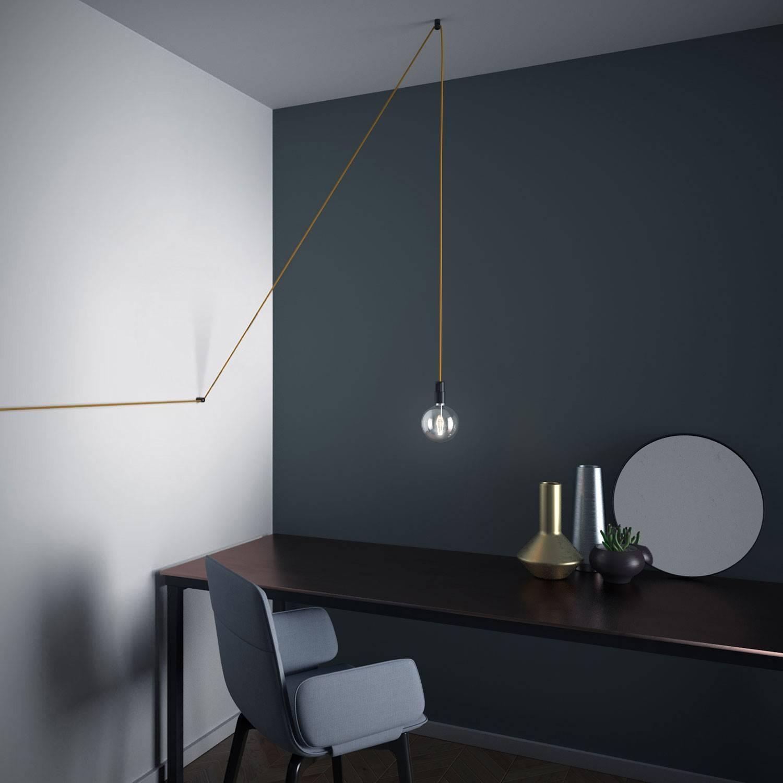 Decentratore, gancio a 'V' a soffitto o parete per cavo elettrico tessile