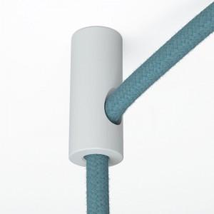 Decentratore, gancio a soffitto per cavo elettrico tessile con fermo