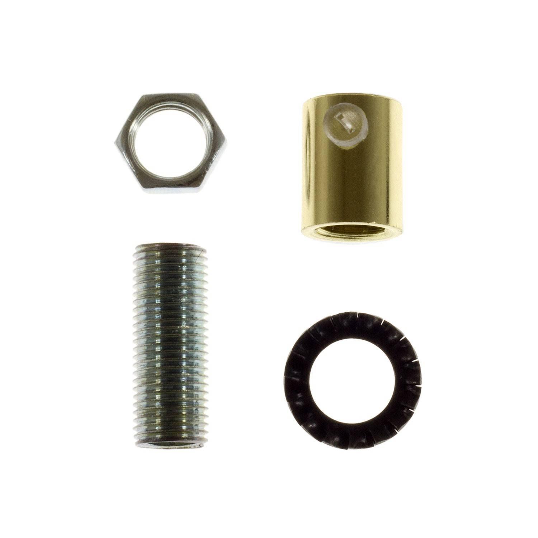 Serracavo cilindrico in metallo completo di tige, dado e rondella
