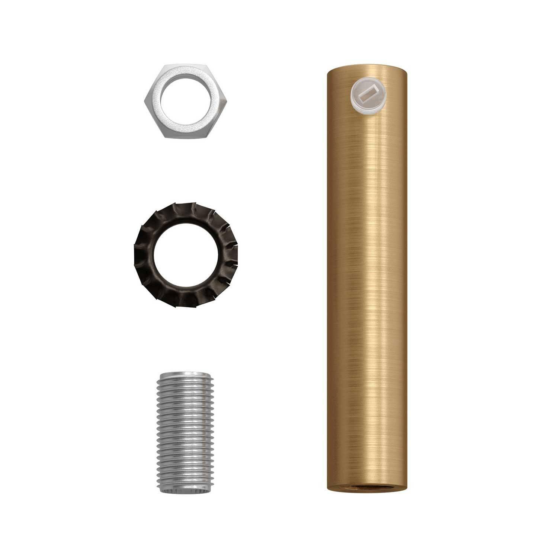 Serracavo cilindrico in metallo lunghezza 7 cm completo di tige, dado e rondella
