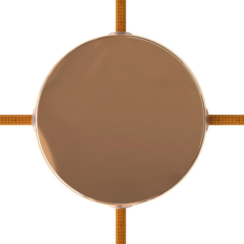 Kit rosone cilindrico in metallo a 4 fori laterali (scatola di derivazione) SMART - compatibile con assistenti vocali